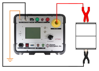 VITS60M vacuum interrupter tester connection diagram
